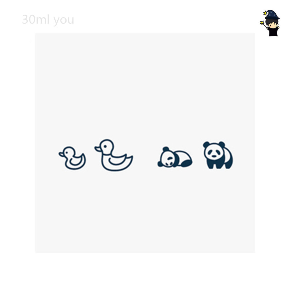 Cute Panda ducks in the zoo Tattoo Sticker small ones