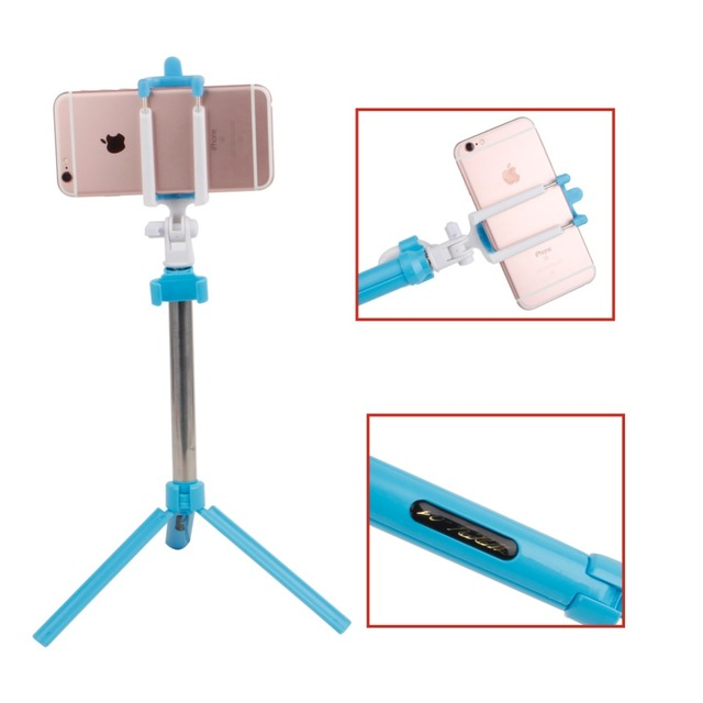 Universal Bluetooth Selfie Stick + Tripod + Shutter Wireless Monopod For iPhone 7 7 Plus 5 6 6s Plus For Samsung Xiaomi Android