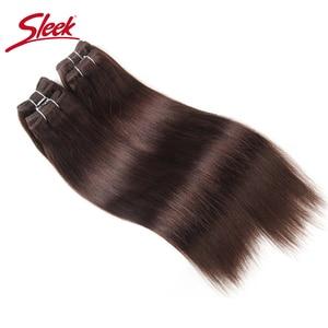 Image 4 - Sleek brazylijski Yaki proste włosy 4 zestawy Deal 190G 1 paczka ludzkie włosy splot wiązki nie Remy ludzki włos czerwony/Burg/1B/2/4 do przedłużania włosów