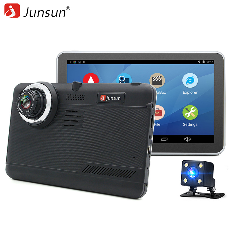 Junsun 7 Android Car GPS Navigation 16GB with Rear view camera Car dvrs Vehicle gps Navigator Quad-core Bluetooth AVIN sat nav