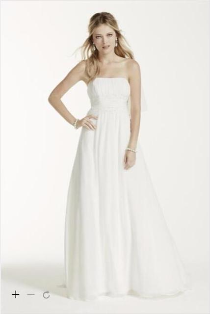 2016 Chiffon A Line Wedding Dresses Ed Bodice Soft And Flowing Skirt Hand Beaded
