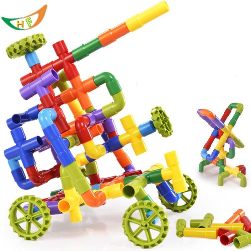 Mainan tadika baru 2016 Blok plastik untuk memegang paip Mainan - Mainan pembinaan - Foto 1