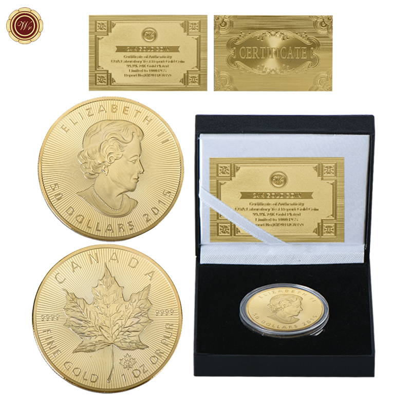 WR 1 oz or Pur 50 Dollars Gold Plated Metal Copy Coin Vintage Home ...