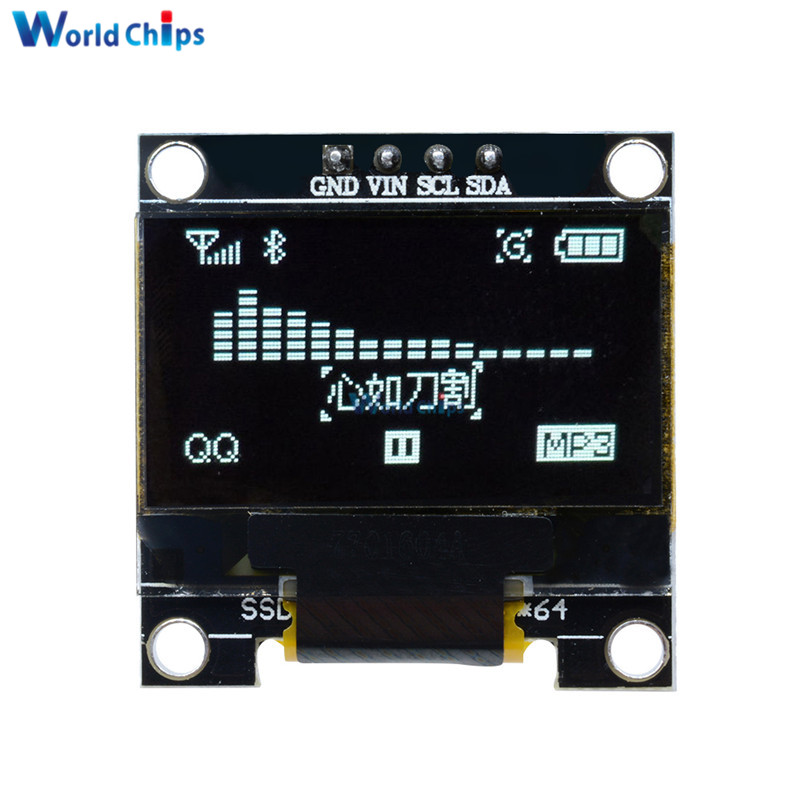 White OLED LCD LED Display Module 0.96
