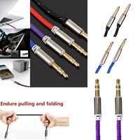 Cable Aux 3,5mm Jack a Jack coche Aux auxiliar Cable de Audio estéreo Cable de altavoz Bluetooth
