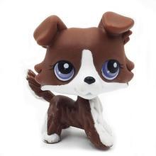 Rare animal font b pet b font shop lps toys puzzle brown Collie Puppy Dog old