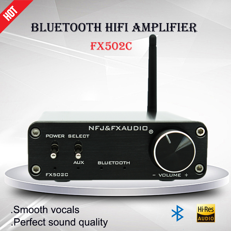 Fx-Audio FX502C Portable Digital Power Amplifier TPA3116 CSR8635 Mini Bluetooth Power Amplifier Audio Amp Hifi Amplificador aiyima amplifiers audio tpa3116 2 0 amplificador high power hifi digital amplifier board bluetooth v4 0 csr8635 bluetooth chip