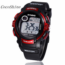 CocoShine A908 Multifunction Boy Digital LED Quartz Alarm Date Sports Waterproof Wrist Watch wholesale Free shipping