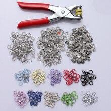 100 наборов 9,5 мм медные зубчатые кнопки крепеж пресс-шпильки попперы с плоскогубцами