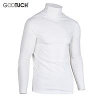 גברים תחתונים תרמיים בתוספת כותנה גודל ארוך צווארון גבוה אלסטי צמרות ג 'ונס גברים חולצת גולף השרוול הארוך T חולצות T 2533