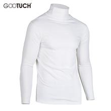 Plus Size Cotton Thermal Underwear Men Elastic High Collar Long Johns Tops Turtleneck Long Sleeve T Shirt Men T Shirts 2533