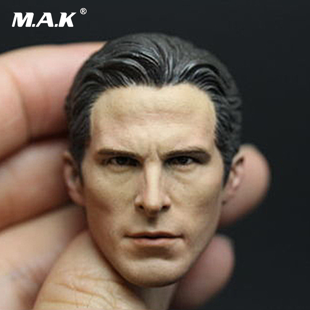1/6 Scale UK Actor 1/6th Christian Bale Head Sculpt Batman v Superman Male Head Carving for 12 inches Figure Acceoories 1 6 scale the game of death bruce lee head sculpt and kungfu clothes for 12 inches figures bodies