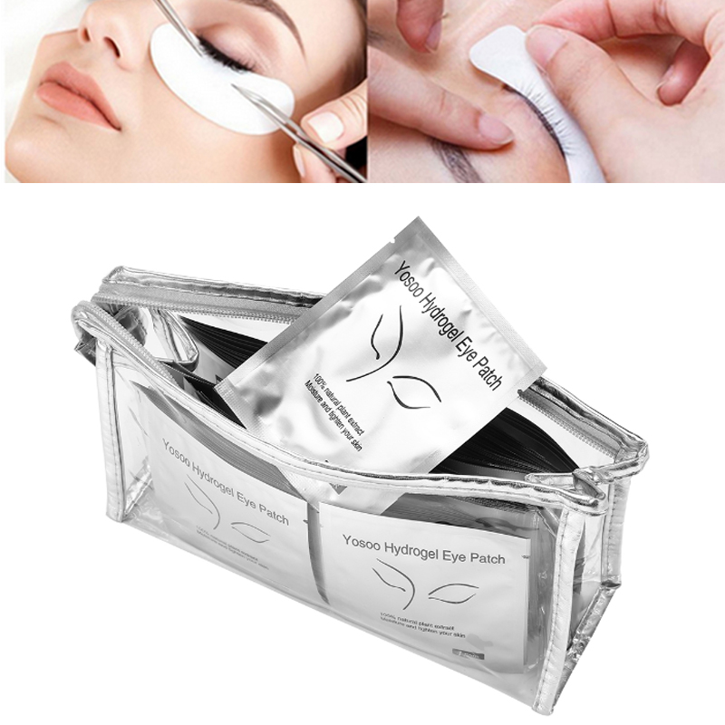 100 Pairs/Lot Eyelashes Patches Under the Eyes Makeup Lashes Eye Pads Eyelash Extension Mask Patches Grafted Stickers with Bag thin hydrogel eye patches under eye pad non waven fabric eye paper patches for eyelash extension 25 50 100 200 500 packs pad