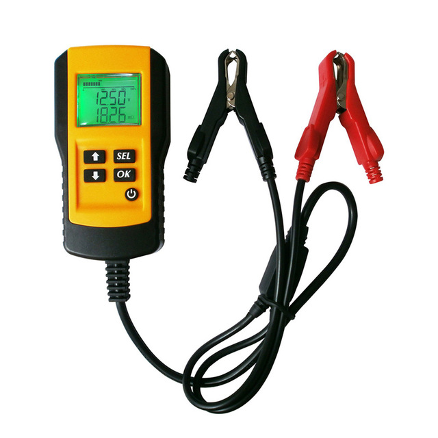 Car Battery Tester 12V Vehicle Car Digital Battery Test Analyzer Auto Diagnostic Tool With backlight LCD pretty clearly цена 2017