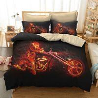 3D Skull Bedding Set Queen Size Bed Linen Set Luxury Bed Set Bedclothes Duvet King Bedding Set 1Pcs Quilt + Pillowcase 2Pcs