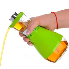 Nicht Drip Presse & Messen Glas Ölflasche Essig und Öl Dispenser