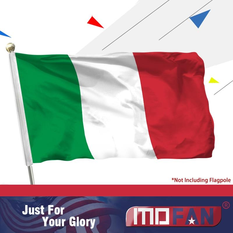 MOFAN Itálie vlajka Bandiera Italiana - vysoce kvalitní a dvojitě prošívané - vlajky na sváteční průvod Polyester 3x5 Ft