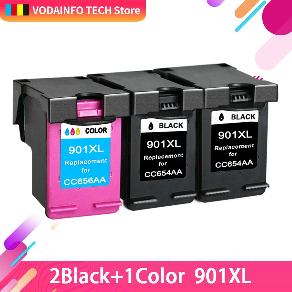 QSYRAINBOW Compatible 901XL cartouche d'encre Pour HP901 Pour HP 901 Officejet 4500 J4580 J4550 J4540 J4680 J4524 J4535 J4585 J4624