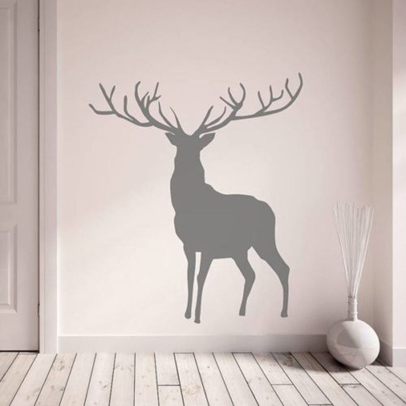 YOYOYU 40 colors Vinyl wall stickers muraux Stag Pattern Removeable Wall Decal Livingroom B Wall Decor ZX197