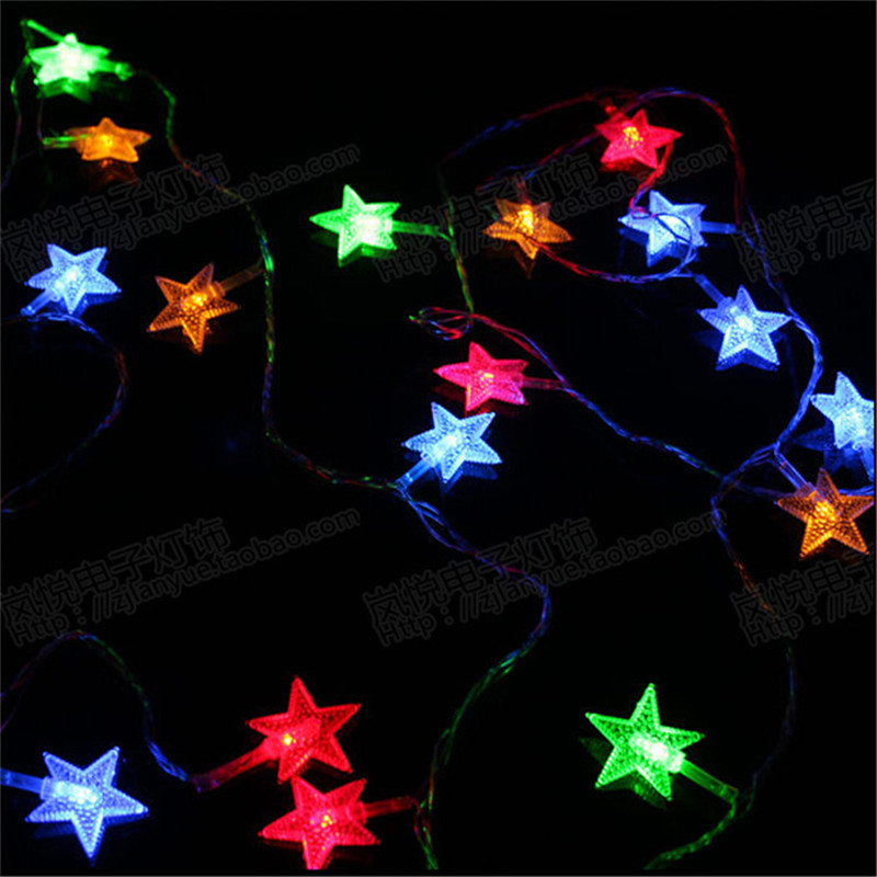 4M 110/220V 20 LED string lights Lights Pentagram LEDs for Party Wedding Decoration Christmas Flasher Fairy Lights