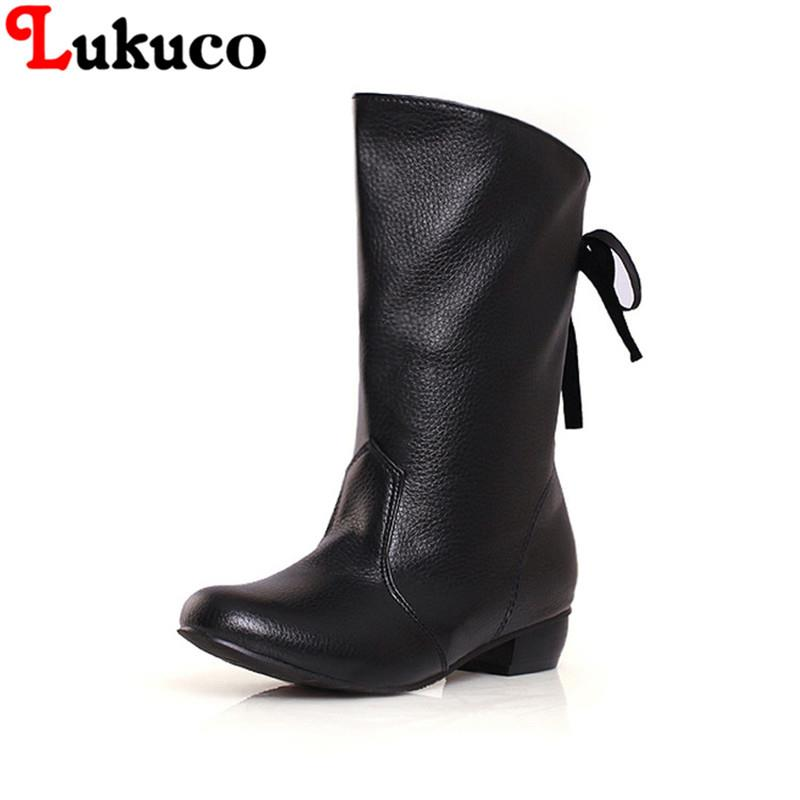 2018 Sweet retro boots round toe size 39 40 41 42 43 44 45 46 47 mid-calf boots high quality shoes real pictures free shipping high quality full grain leather round toe mid calf boots size 40 41 42 43 44 buckle decoration zipper design square heel boots