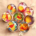 1pcs 22mm Cute Small Animals Breastpin Artistic Cartoon Winnie Pooh Crystal Glass Brooch Bear Party/Packsack Decoration H011