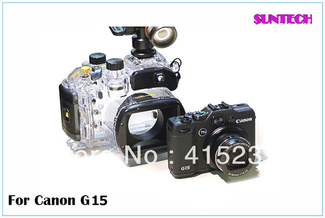 2013 Free shipping Newest best quality Pro 40M Waterproof Camera Case housing for Canon G15