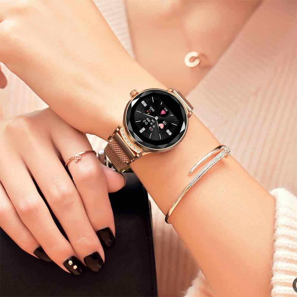 LEMFO H2 Women Smart Watch IP67 Waterproof Heart Rate Blood Pressure Monitor Fashion Smartwatch Women