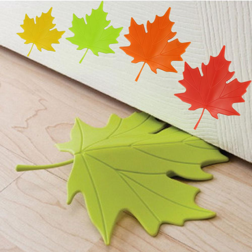 Door Hardware & Locks Maple Autumn Leaf Style Home Decor Finger Safety Door Stop Stopper Doorstop