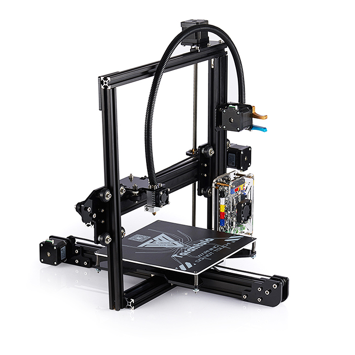цена на Original Tevo Tarantula 3D Printer DIY Kit Aluminium Extrusion 3D Printing 2 Roll Filament Titan Extruder SD Card 200x200x200mm