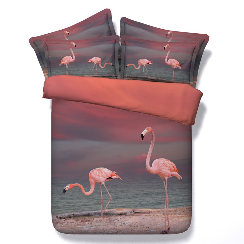3d Flamingo Ensembles De Literie Couette Queen Housse De Couette