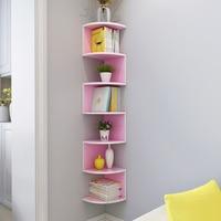Corner Bookshelf Shelf Storage Rack Wall Shelf Wall Corner Frame Corner Bookshelf Wall Bookcase XI31945