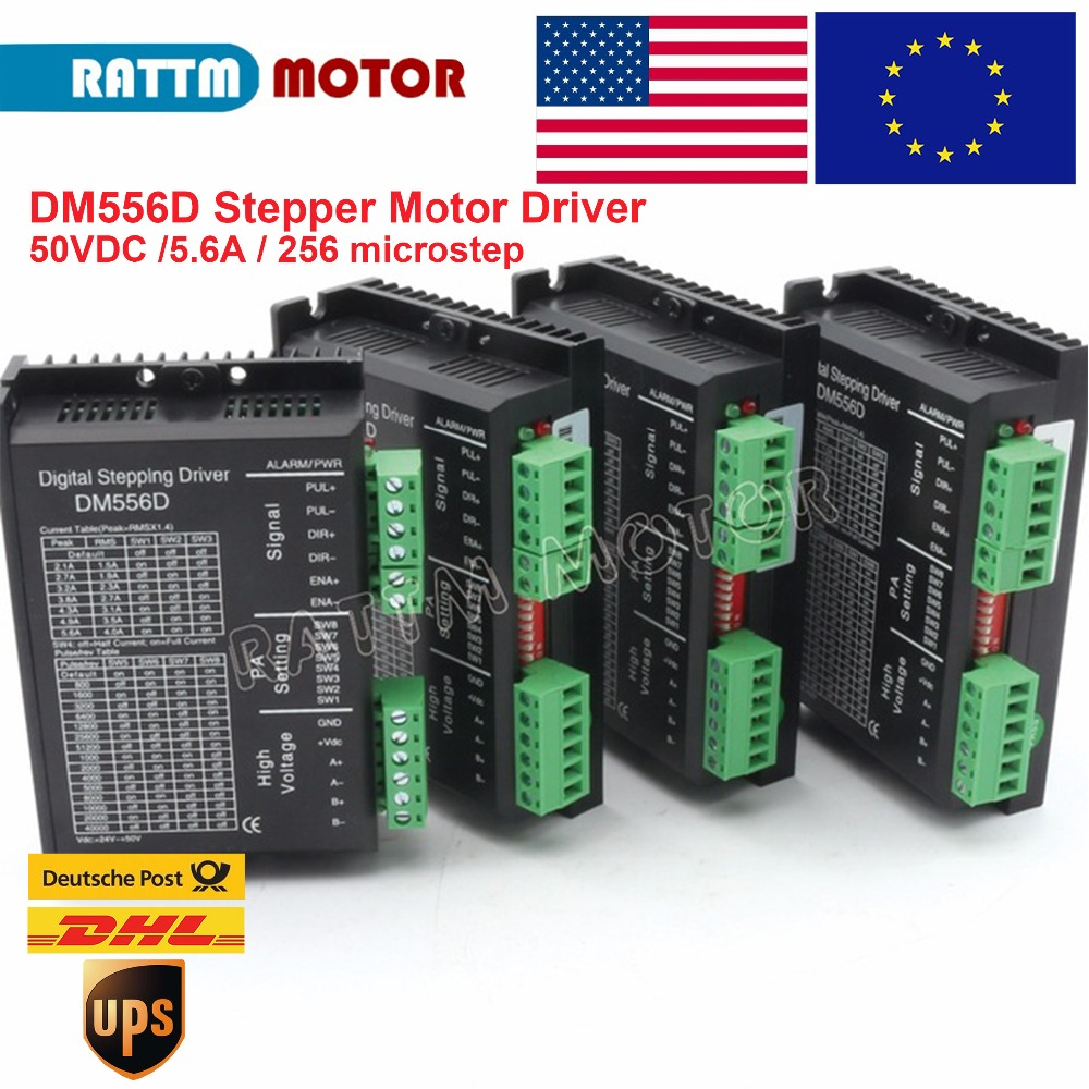 4pcs DM556D 50VDC 5 6A 256 microstep High performance digital NEMA17 23 stepping motor driver