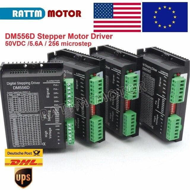 الاتحاد الأوروبي 4 قطعة DM556D 50VDC 5.6A 256 microstep عالية الأداء الرقمية NEMA17/23 خطوة سائق المحرك