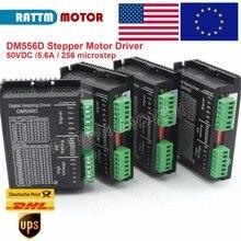 Ue 4 pces dm556d 50vdc 5.6a 256 microstep alto desempenho digital nema17/23 stepping motor driver