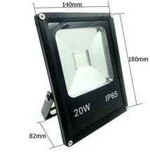 1 PCS Led Spotlight RGB Floodlights 10W 20W 30W 50W Flood Lighting IP65 Outdoor 85-265V Spotlights+Remote Controller Spot Garden