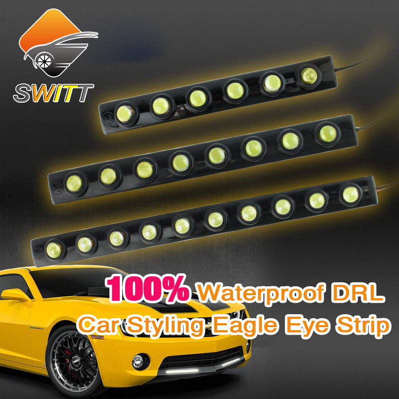 Car styling 2pcs 6/8/10 LED DRL Flexible Strip Waterproof Daytime Running Light  Fog warning light Reverse Light parking lamp 2pcs 12v car drl led daytime running light flexible tube strip style tear strip car led bar headlight turn signal light parking