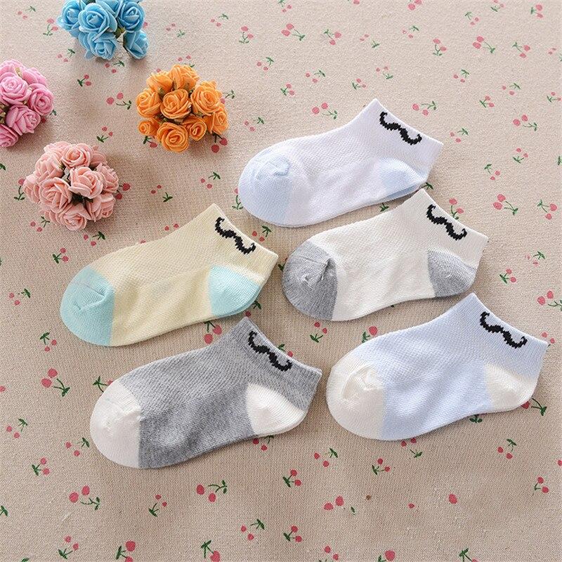 0-12Years Children Socks Summer Mesh Breathable Baby Boys Sport Sock 5pairs/Lot Stripe Cotton Girls Ankle Hose Anklets Kids Sox 12