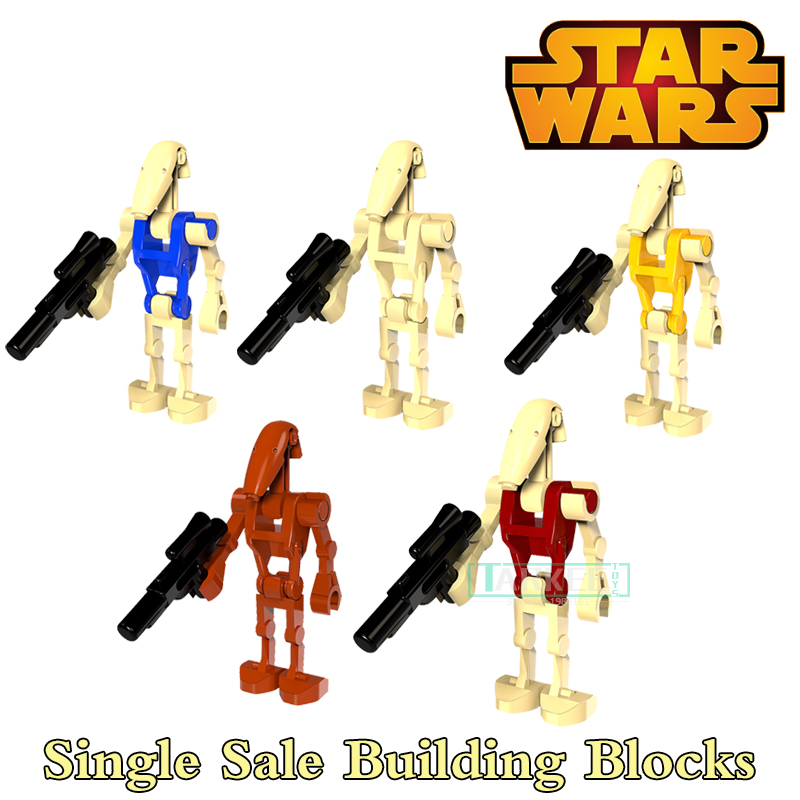 Single sale Star Wars Fighting robots Movie Series Building Blocks Education Super Heroes Funny For Children Toys Gifts PG8099 lego education 9689 простые механизмы