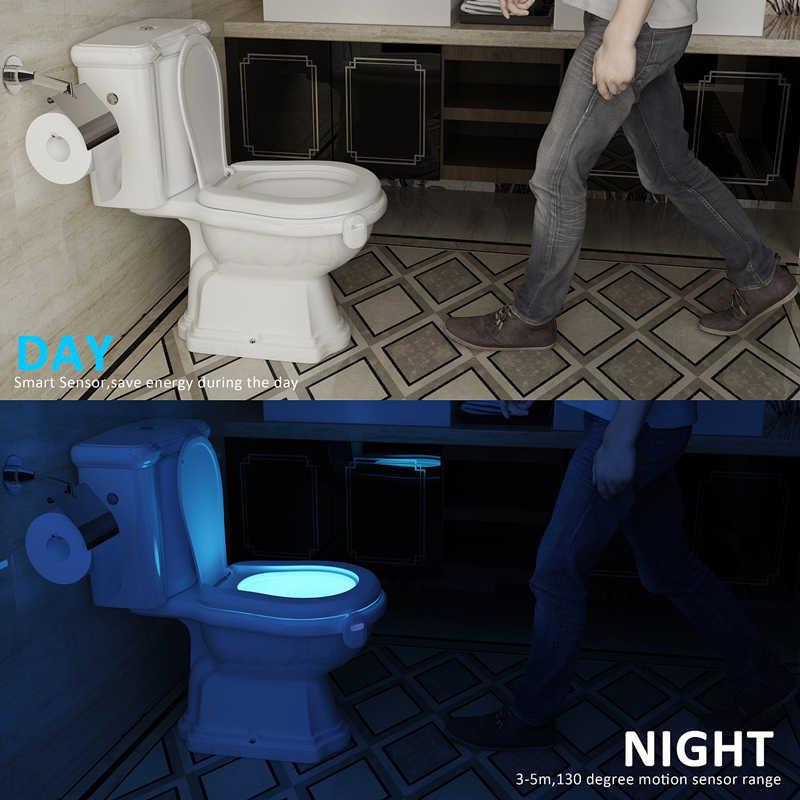 Умный туалет ночник светодиодный WC Closestool тело движение активированное сиденье PIR сенсор авто с активируемой лампой Пьедестал туалет