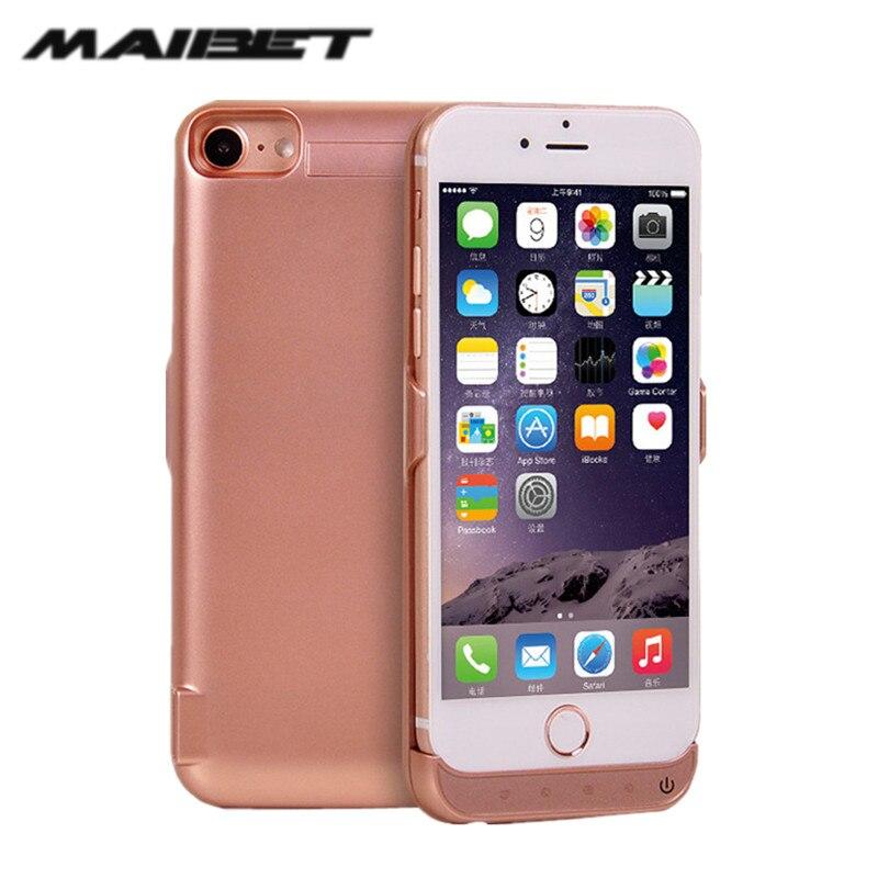 imágenes para Maibet 5000-7000 mah batería de reserva externa recargable para el iphone 6 7 7 plus cargador de batería de reserva para iphone 5s poder banco