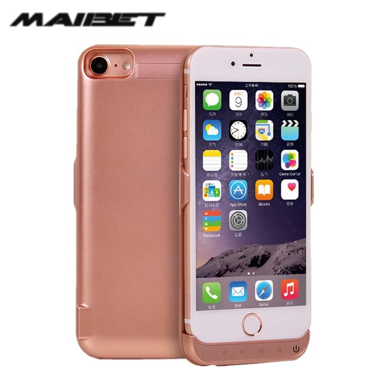 bilder für Maibet 5000-7000 mah externe wiederaufladbare pufferbatterie für iphone 6 7 7 plus unterstützungsladegerät für iphone 5 s power Bank