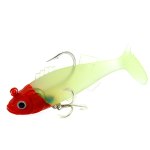 Image 5 - WLDSLURE 1Pcs 11.5cm/37g Artificial Fishing Soft Lures Sharp Hook lead Fishing Lure Lead Head Silicone Bait Fishing Tackle Lure
