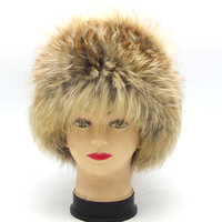 Women, winter, natural and real animals, fur, POM, red fox tail, winter soft fur hat, hat.