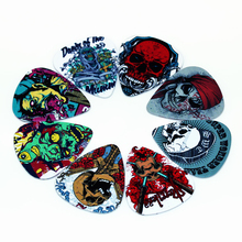10pcs/Lot 0.71mm thickness guitar strap guitar parts Accessories 2 new hot skull guitar picks Guitar Accessories