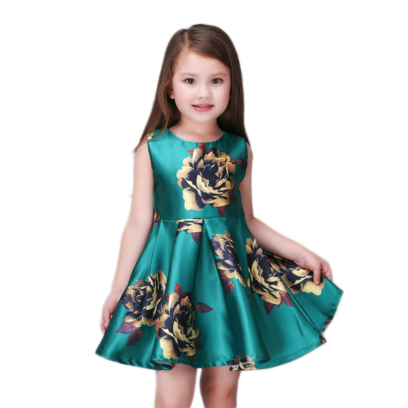 3-12T New Summer Flower Girls Dresses For Party Baby Girl Kids Princess Dress Costumes 3-12 yrs