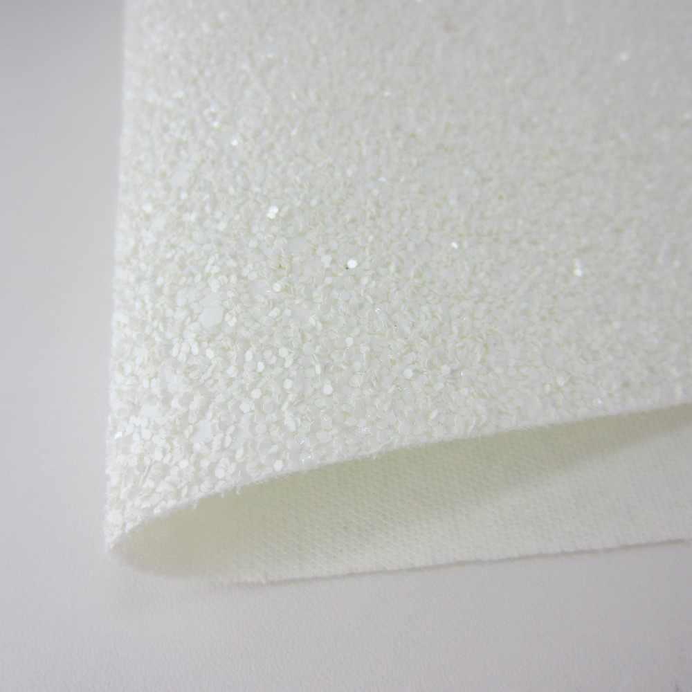"""8 """"x 11"""" (21 cm X 29 cm) white Glitter folha de Folha de Tecido De Couro Falso tecido para Costura DIY artesanato crianças arcos 1 peça K080"""