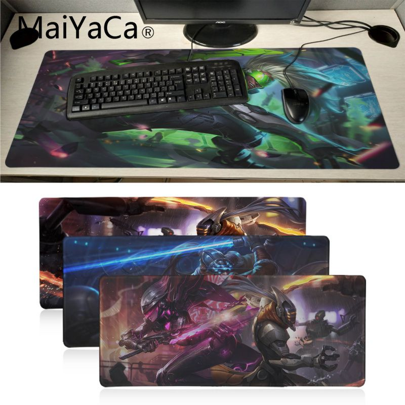 Maiyaca League Of Legends Project Yi Rubber Gaming Mousepad Desk Mat Computer Game Mouse Pad Gamer Play Mats Lol Surprises