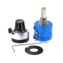 3590S-2-103L 3590S 10K ohm Precision Multiturn Potentiometer 10 Ring Adjustable Resistor + Turns Counting Dial Rotary Knob