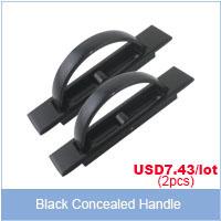 black concealed handle